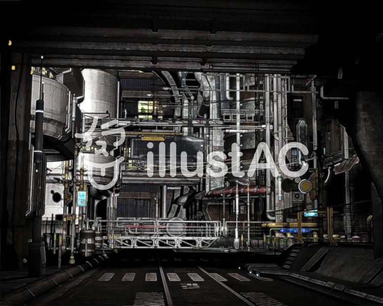 3DCG都市背景のイラスト