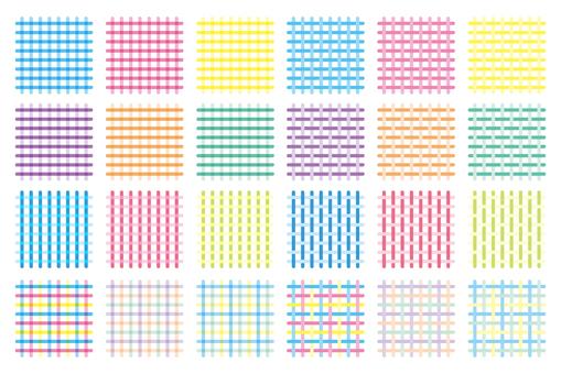 Lattice pattern pastel