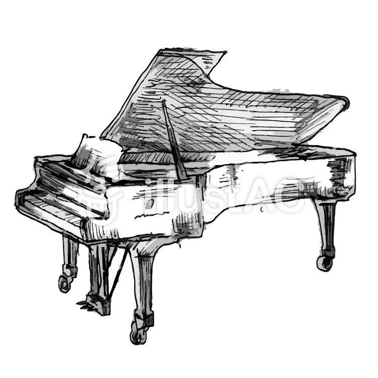 グランドピアノイラスト No 1099111無料イラストならイラストac
