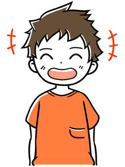 Children and boys smile