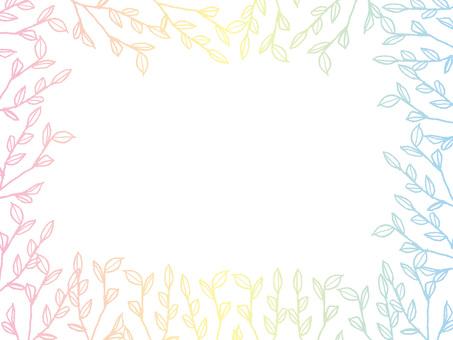 나뭇잎 프레임 파스텔