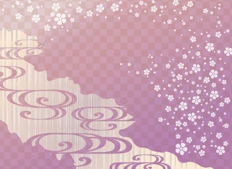 Pop Japanese pattern (purple)