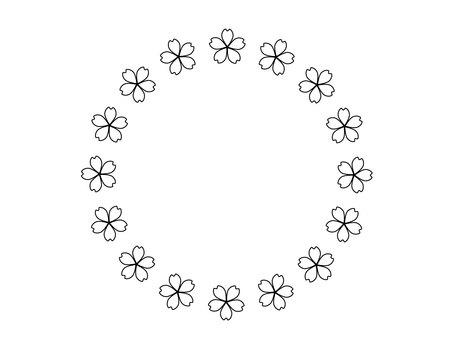 꽃 벚꽃 프레임