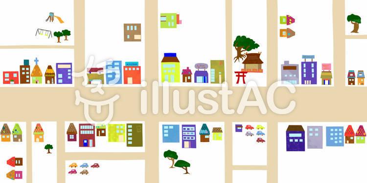 街の地図イラスト No 203013無料イラストならイラストac
