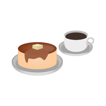 Pancake and coffee