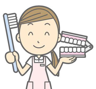 Dental Hygienist - Toothbrush - Bust