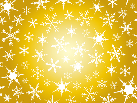 Snowflake background material gold