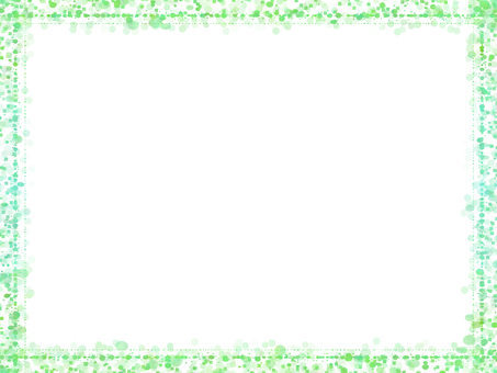 도트 & 사각 프레임 3 (녹색)