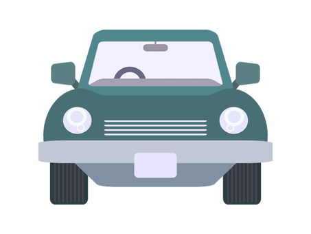 Car Front Green