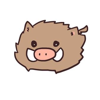 멧돼지의 일러스트