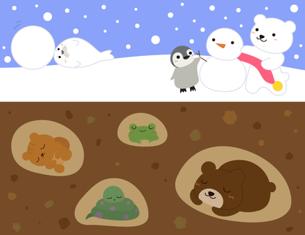 Winter animals _ above ground and underground