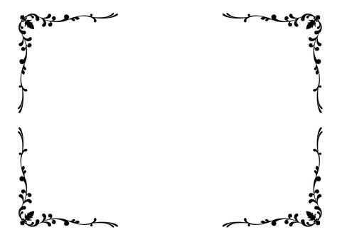 Elegant decorative frame - black and white