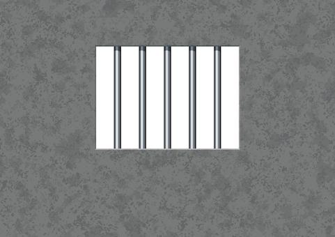 Barbed window frame jail