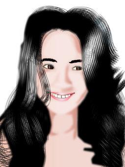 Black hair girl 06