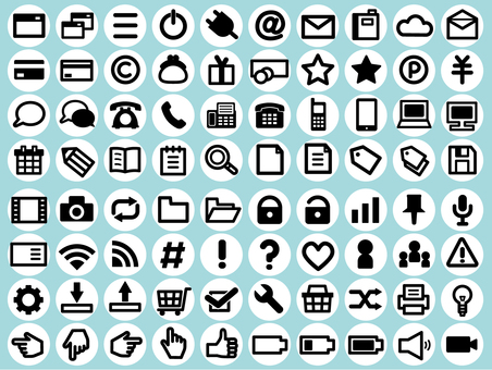 Icon set illustration (white background)