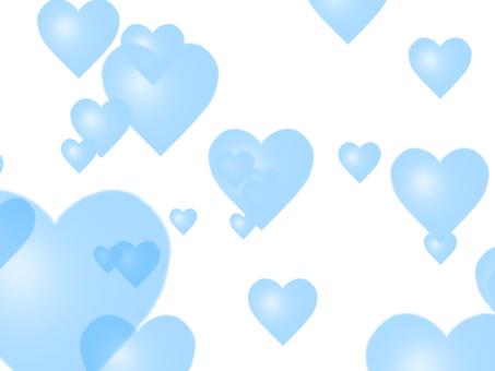Heart pattern blue