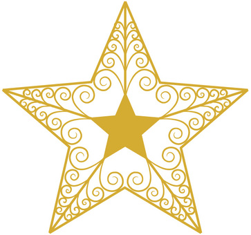 Christmas ornament tree star 2