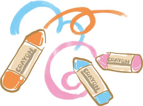 Three color cute crayons