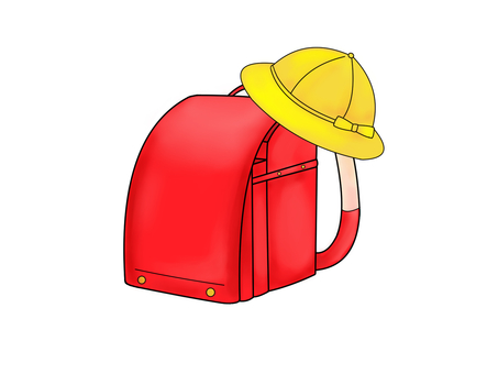 School bag and hat