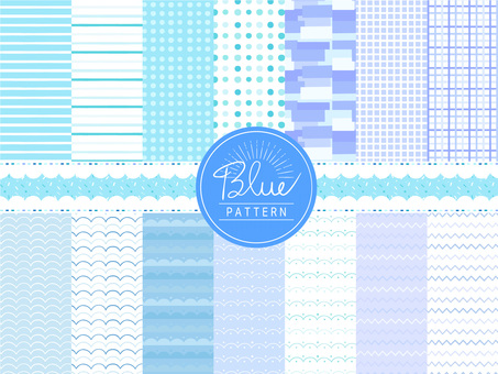 Summer cool blue hand-drawn swatch