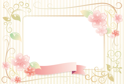 Cherry blossoms and grass frames