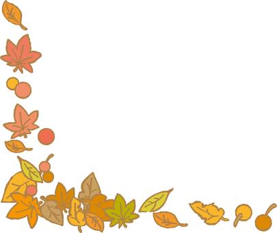 가을 잎과 열매의 코너