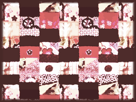 Japanese Pattern Background (Red)