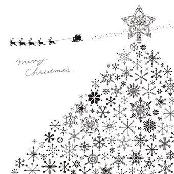 クリスマス 2 モノクロ