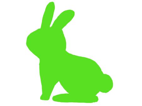 兔子剪影綠色