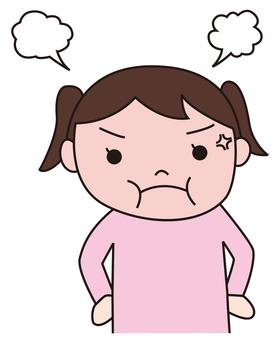 An angry girl