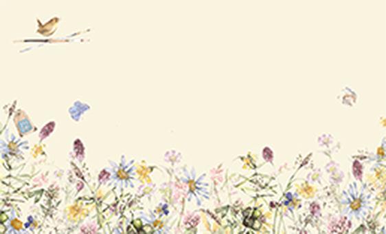 花枠295-落ち着いた色合いの名刺花枠