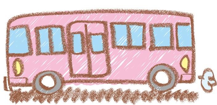 Crayon style bus