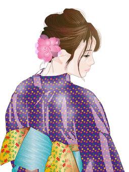 Yukata woman 07