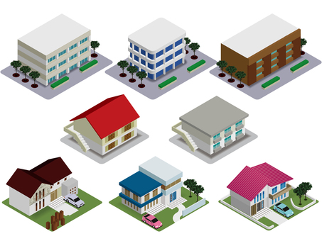 Housing (apartment / single house) set