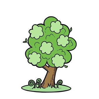데포르메 된 나무