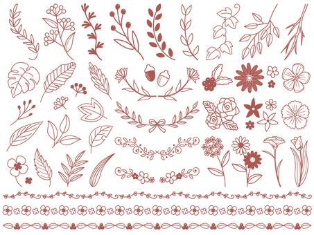 ボタニカル手書き飾りセット
