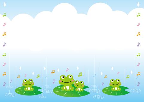 青蛙在雨中