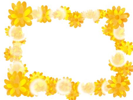 Dandelion fluffy frame