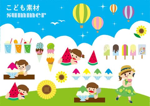 儿童的材料夏天