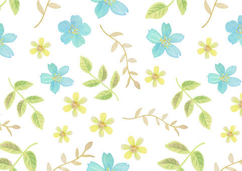 Seamless Background 001 Classic Flower