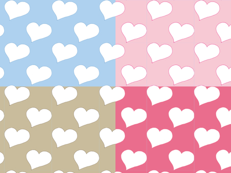 Hand painted heart pattern