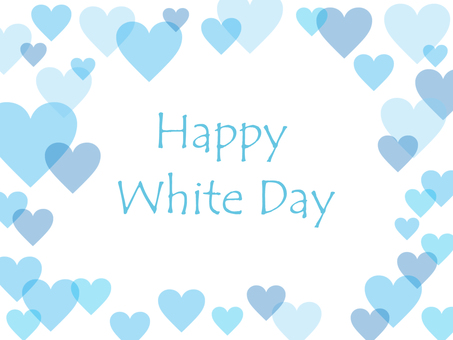 White day heart frame
