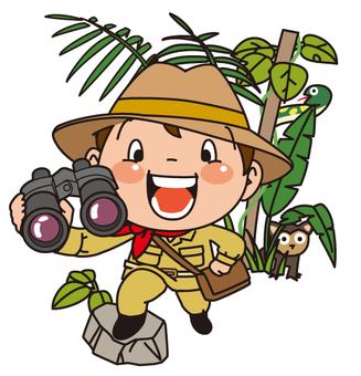Children who adventure the jungle