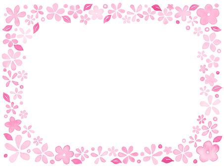 Watercolors Flower frame E 2