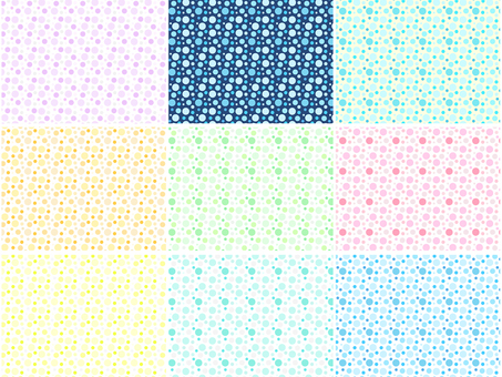 ai Polka dot pattern with swatch Background Conclusion