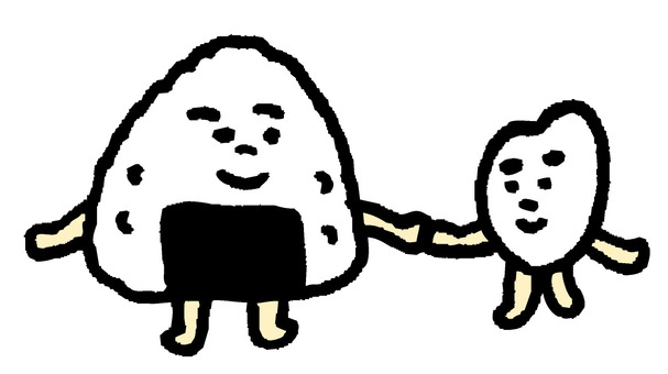 White rice-kun and onigiri-kun