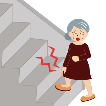 Image that can not climb stairs (grandmother)
