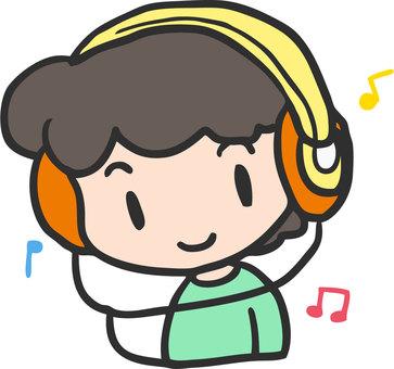 Headphones and boys