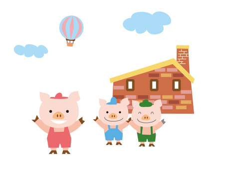 Three little pigs a pig
