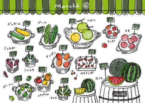 Summer vegetables and fruits 2 pop